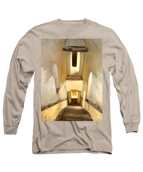 Jantar Mantar Staircase Long Sleeve T-Shirt by Mukta Gupta
