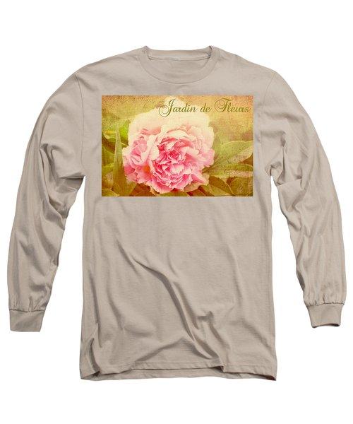 Long Sleeve T-Shirt featuring the photograph Jardin De Fleurs by Trina  Ansel