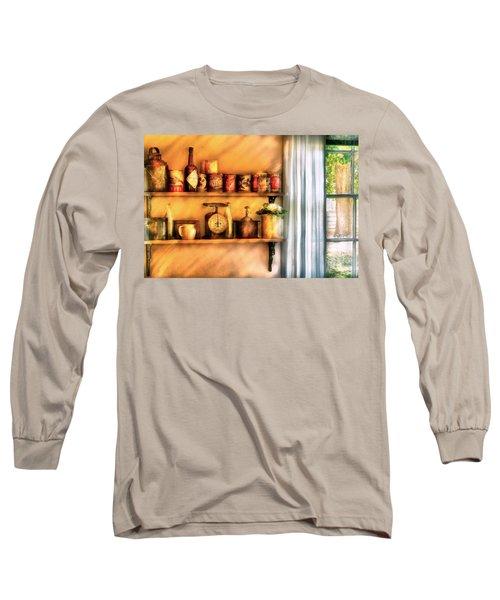 Jars - Kitchen Shelves Long Sleeve T-Shirt
