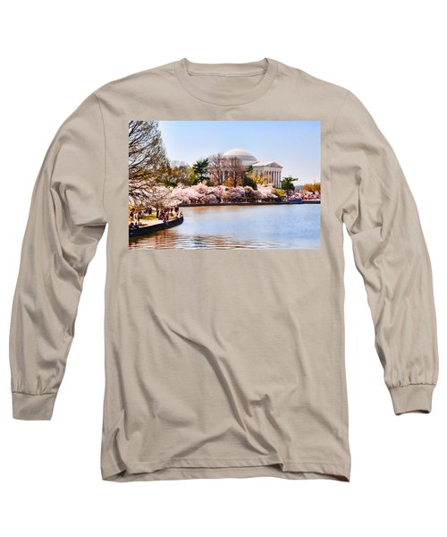 Jefferson Memorial Washington Dc Long Sleeve T-Shirt by Vizual Studio