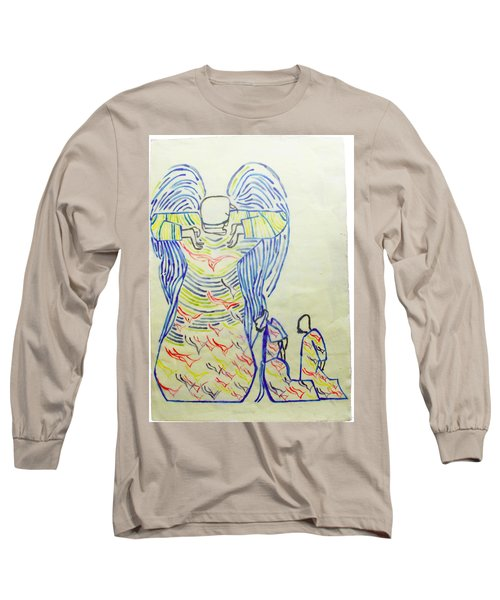 Jesus Guardian Angel Long Sleeve T-Shirt