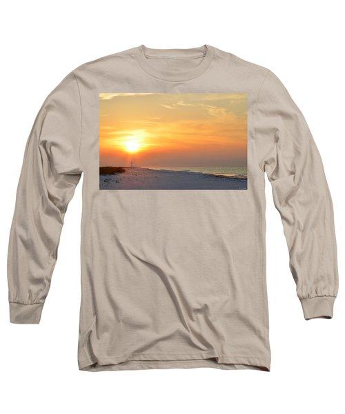 Jesus Rising On Easter Morning On Navarre Beach Long Sleeve T-Shirt