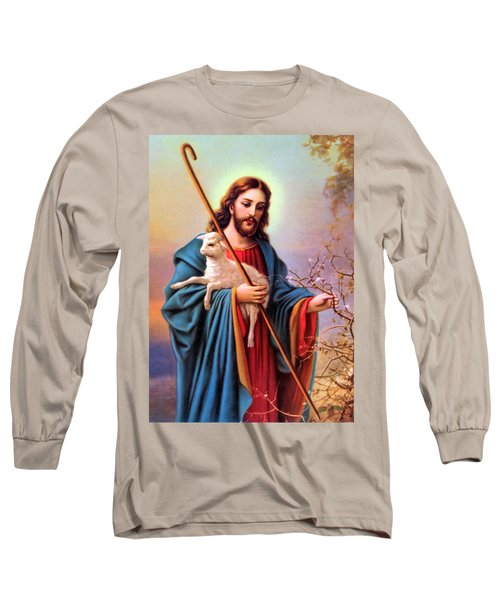 Jesus Shepherd Long Sleeve T-Shirt by Munir Alawi