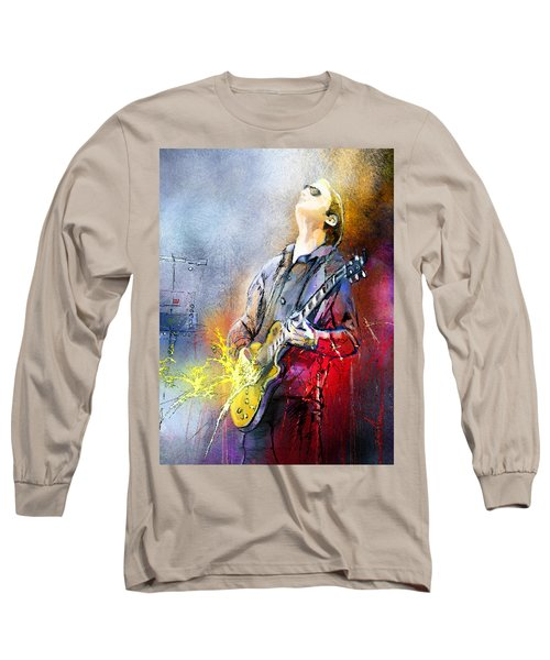 Joe Bonamassa 02 Long Sleeve T-Shirt by Miki De Goodaboom