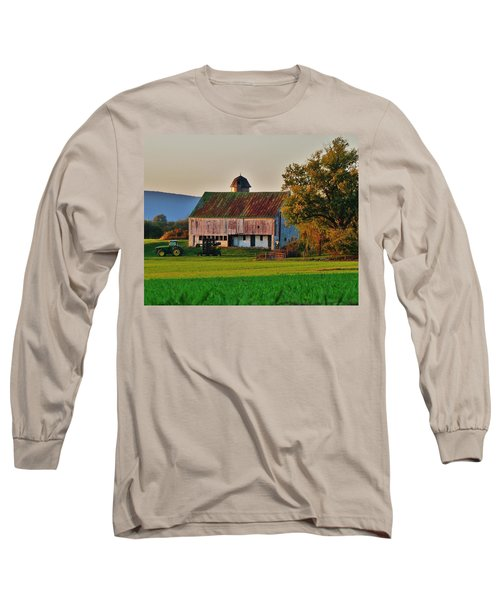 John Deere Green Long Sleeve T-Shirt by Robert Geary