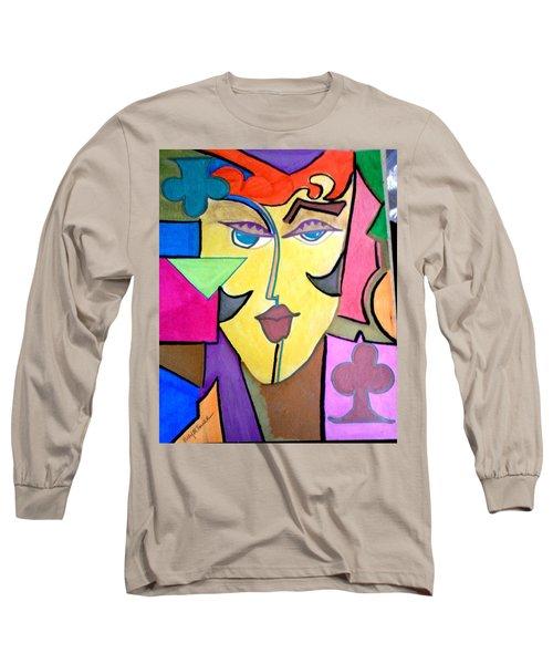 Joker Art Long Sleeve T-Shirt by Kelly Turner
