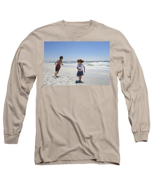 Joyful Play Of Children Long Sleeve T-Shirt by Charles Beeler
