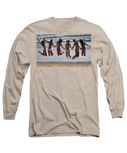 Just Jump Long Sleeve T-Shirt by Tammy Espino