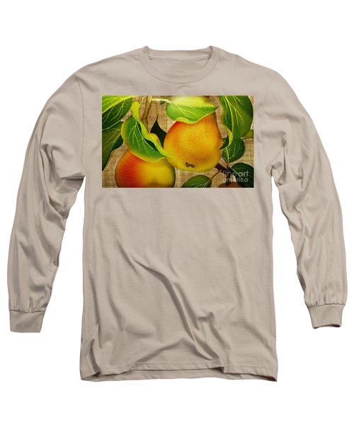 Long Sleeve T-Shirt featuring the photograph Just Pears by Judy Palkimas