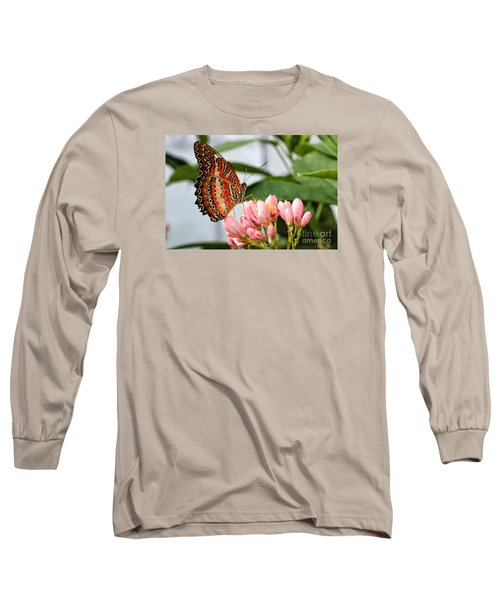 Just Pink Butterfly Long Sleeve T-Shirt by Shari Nees