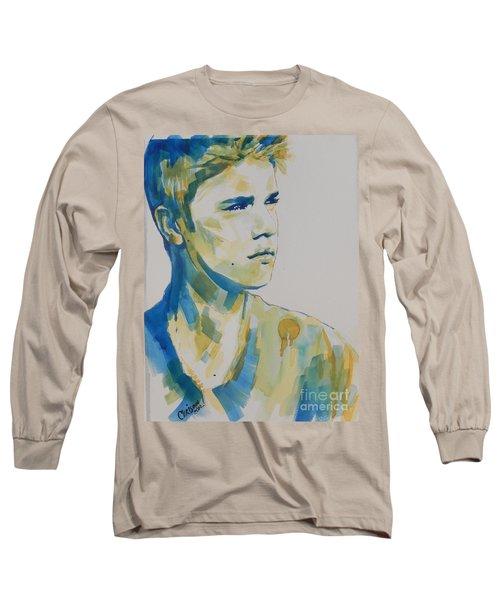 Justin Bieber Long Sleeve T-Shirt by Chrisann Ellis