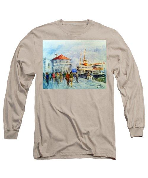 Kadikoy Ferry Arrives Long Sleeve T-Shirt