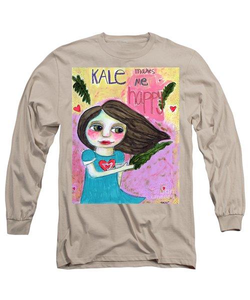Kale Makes Me Happy Long Sleeve T-Shirt