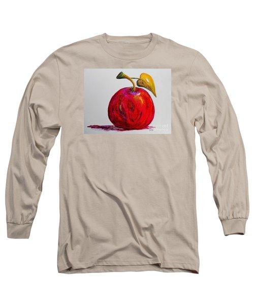 Kaleidoscope Apple -- Or -- Apple For The Teacher  Long Sleeve T-Shirt by Eloise Schneider