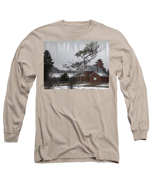 Long Sleeve T-Shirt featuring the photograph Kansas Church by Liane Wright