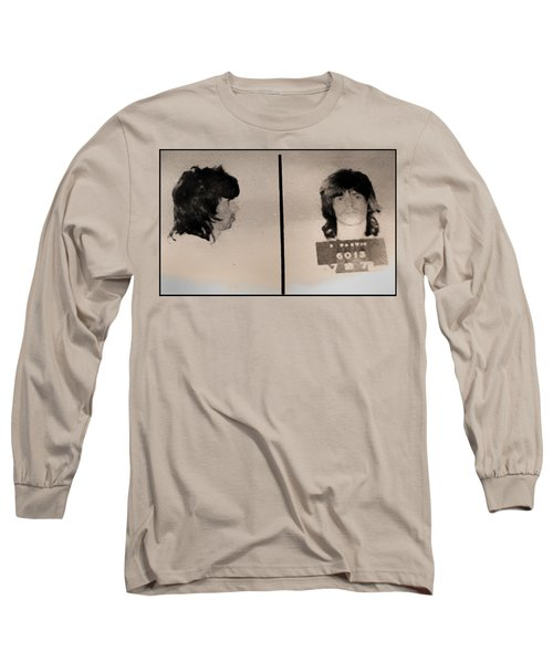 Keith Richards Mugshot - Keith Don't Go Long Sleeve T-Shirt