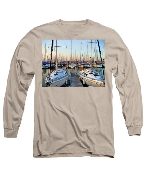 Kemah Boardwalk Marina Long Sleeve T-Shirt by Savannah Gibbs