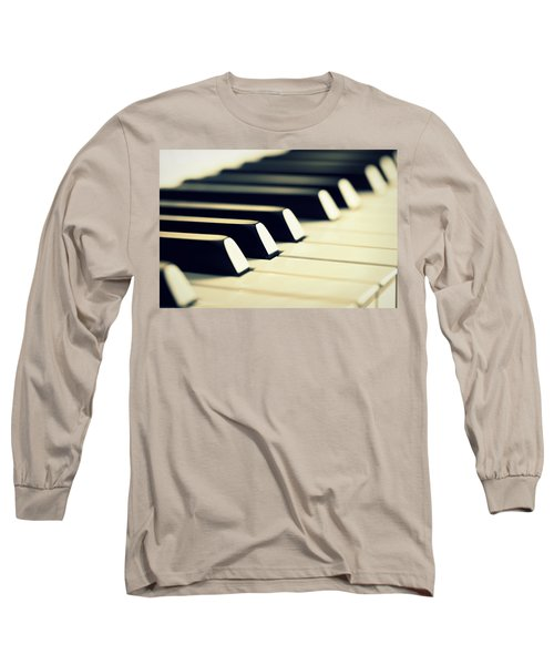 Keyboard Of A Piano Long Sleeve T-Shirt