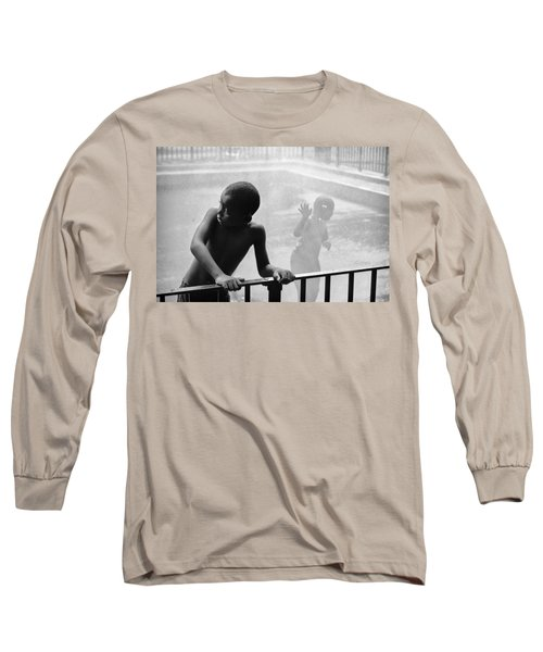 Kid In Sprinkler Long Sleeve T-Shirt