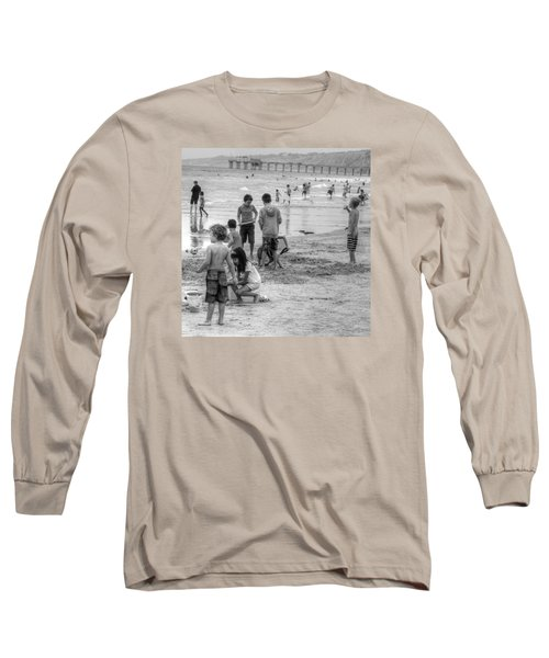 Kids At Beach Long Sleeve T-Shirt