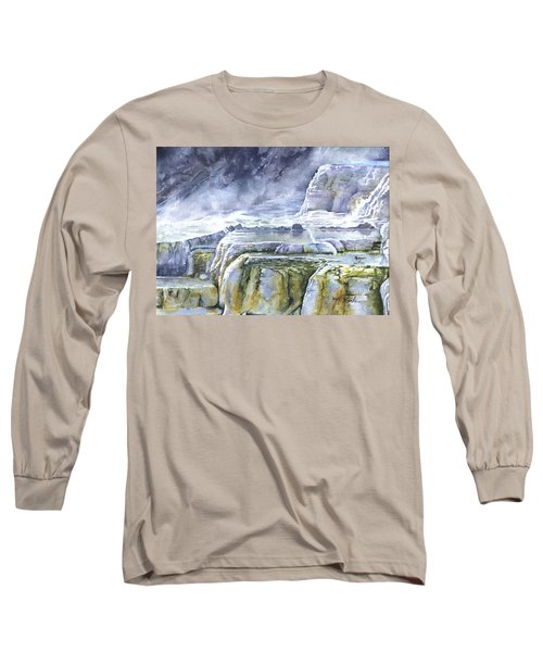 Killdeer Palisades - Mammoth Hot Springs Long Sleeve T-Shirt
