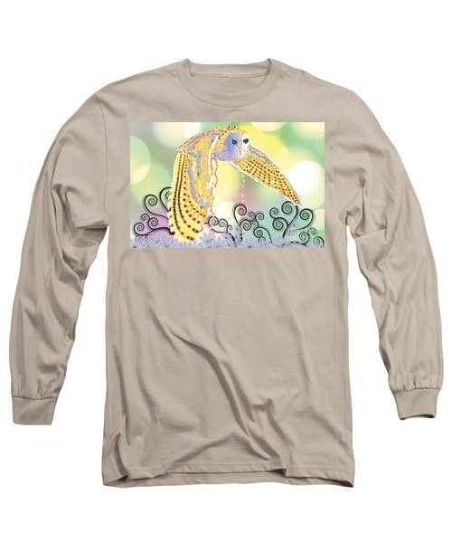 Long Sleeve T-Shirt featuring the digital art Kindred Light Owl by Kim Prowse