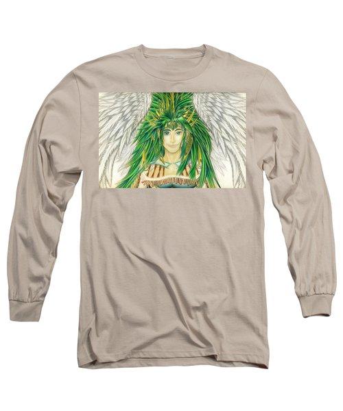 King Crai'riain Portrait Long Sleeve T-Shirt by Shawn Dall