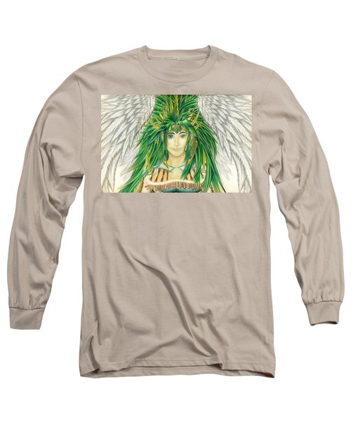 Long Sleeve T-Shirt featuring the painting King Crai'riain Portrait by Shawn Dall