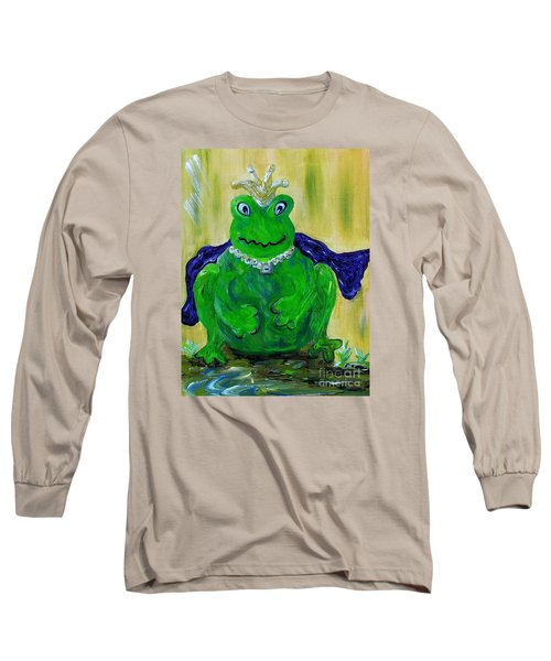 Long Sleeve T-Shirt featuring the painting King For A Day by Eloise Schneider