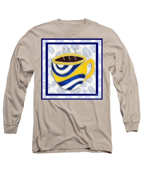 Kitchen Cuisine Hot Cuppa No76 V2 By Romi And Megan Long Sleeve T-Shirt