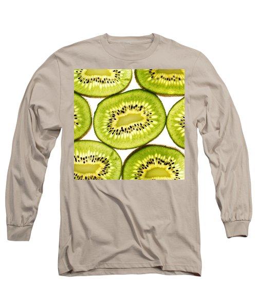 Kiwi Fruit IIi Long Sleeve T-Shirt by Paul Ge