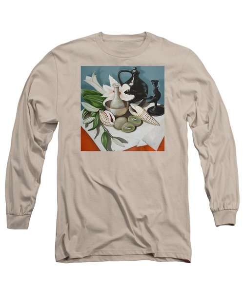 Long Sleeve T-Shirt featuring the painting Kiwifruit by Helen Syron