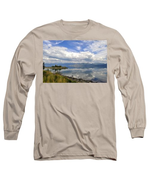 Long Sleeve T-Shirt featuring the photograph Kluane Reflections by Cathy Mahnke