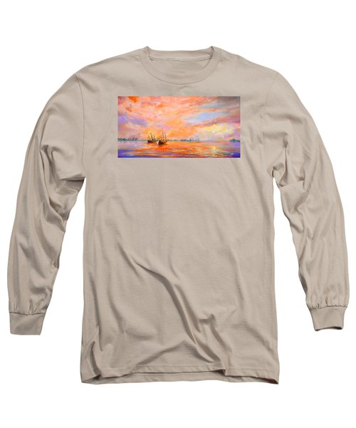 Long Sleeve T-Shirt featuring the painting La Florida by AnnaJo Vahle