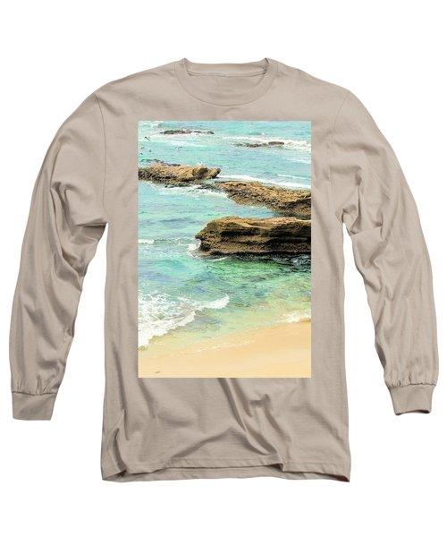 La Jolla Beach Rocks Long Sleeve T-Shirt