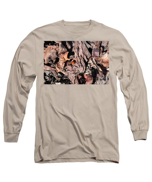 Long Sleeve T-Shirt featuring the photograph Lady Bug In Spring by Ann E Robson