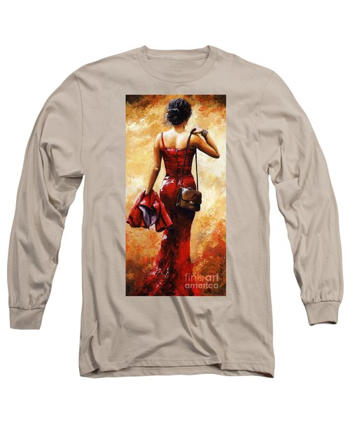 Lady In Red #25 Long Sleeve T-Shirt