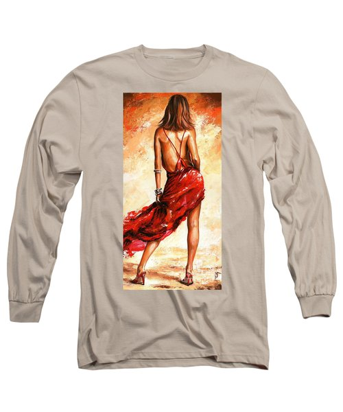 Lady In Red 40 Long Sleeve T-Shirt