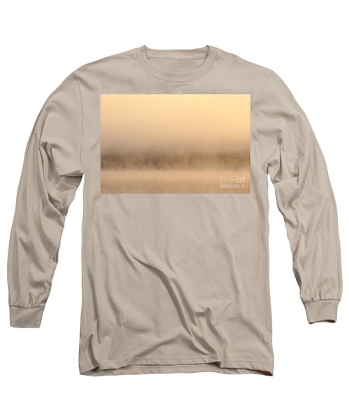 Lake Cassidy With Fog And Trees Along Shoreline Shrouded In Fog Long Sleeve T-Shirt