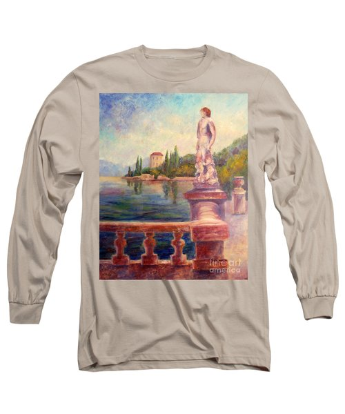 Lake Como View Long Sleeve T-Shirt
