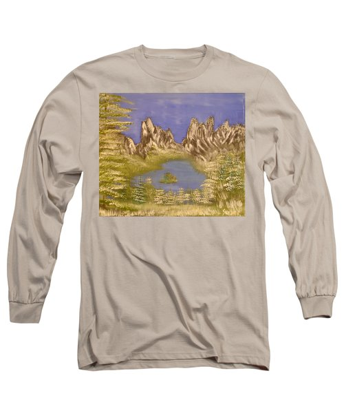 Lake In Glacier Long Sleeve T-Shirt