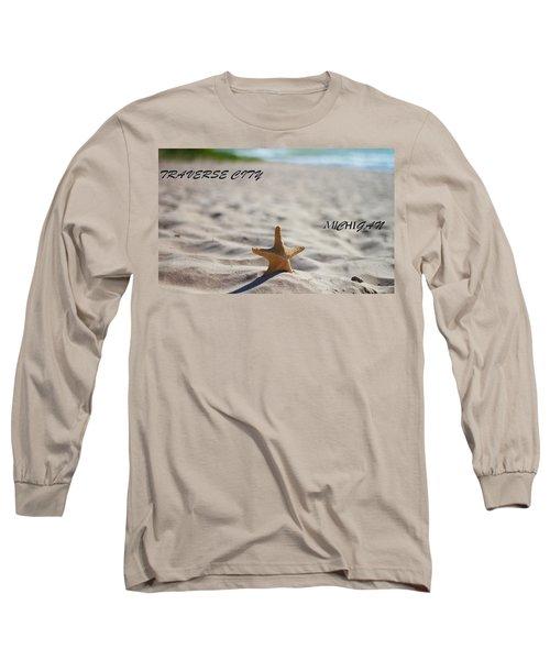 Lake Michigan Beach Traverse City Long Sleeve T-Shirt