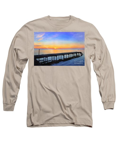 Lake Sunrise - Watercolor Long Sleeve T-Shirt