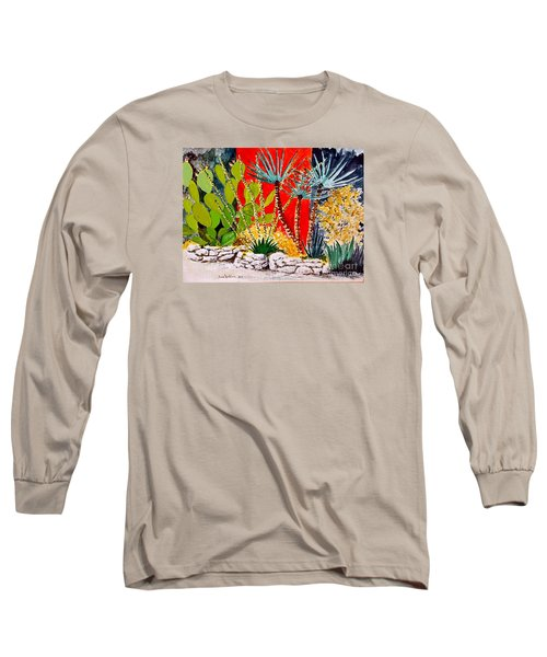 Lake Travis Cactus Garden Long Sleeve T-Shirt