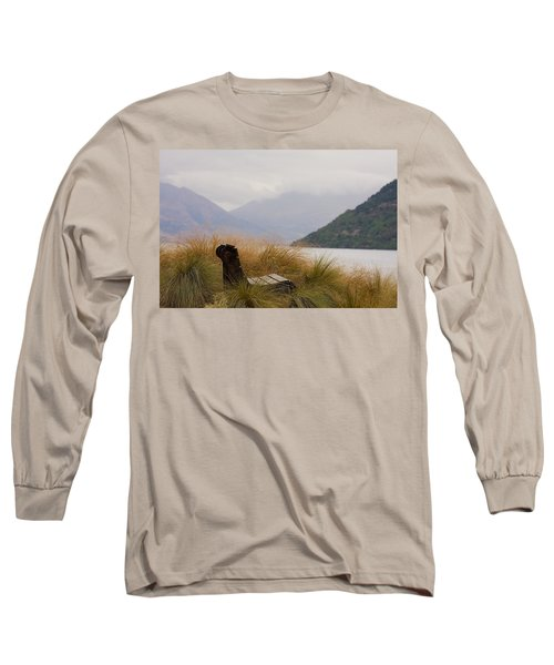 Lake Wakatipu Bench Long Sleeve T-Shirt by Stuart Litoff