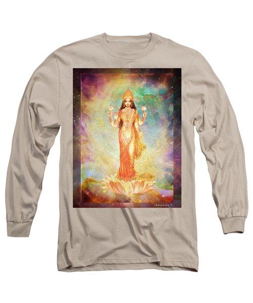 Lakshmi Floating In A Galaxy Long Sleeve T-Shirt