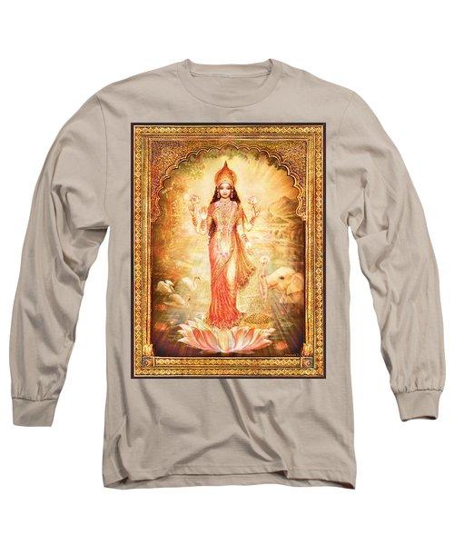 Lakshmi Goddess Of Fortune With Lighter Frame Long Sleeve T-Shirt