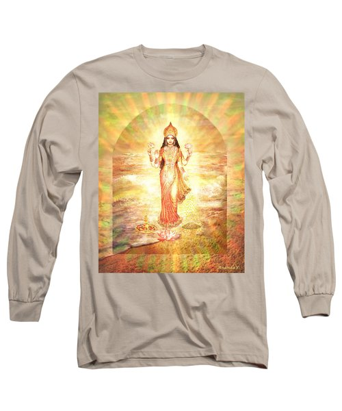 Lakshmis Birth From The Milk Ocean Long Sleeve T-Shirt by Ananda Vdovic