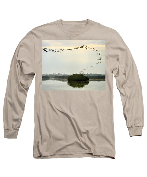 Landing Pattern Long Sleeve T-Shirt by William Beuther