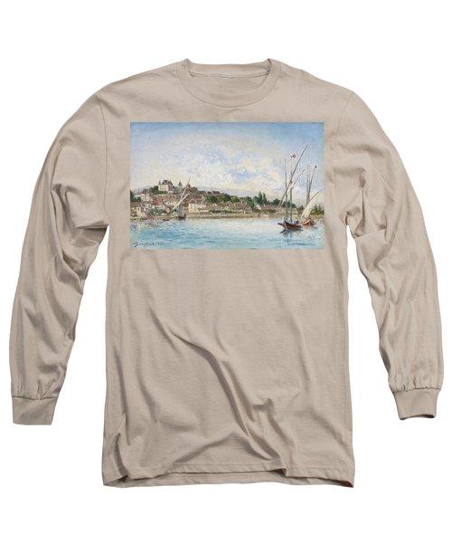 Landscape From Lake Leman To Nyon Long Sleeve T-Shirt
